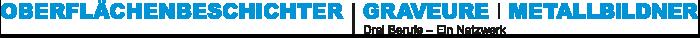 3 Berufe – Oberflächenbeschichter, Graveure und Metallbildner